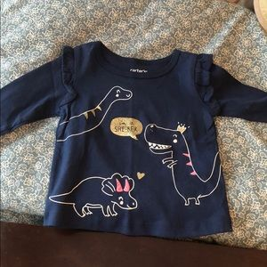 Dino long sleeved shirt from Carter's